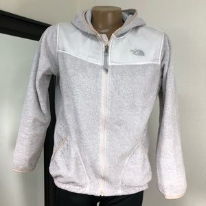 The North Face Fleece Jacket XL Girls Off White